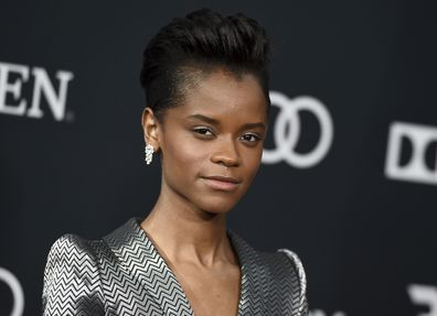 """Letitia Wright at the premiere of """"Avengers: Endgame"""" in 2019"""
