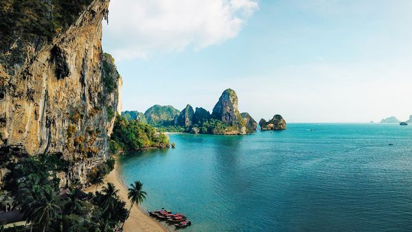 Stunning Railay Beach in the Krabi province.