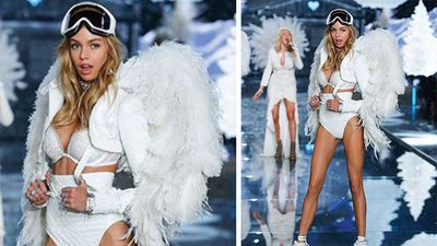 Stella Maxwell wore an ice angel themed outfit. (Instagram)