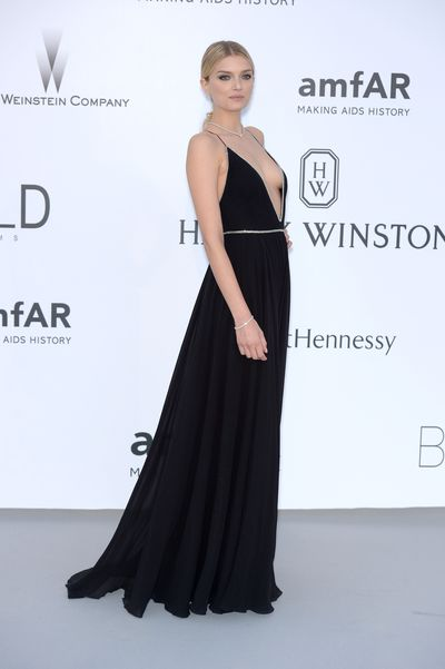 <p>Lily Donaldson in Saint Laurent</p>