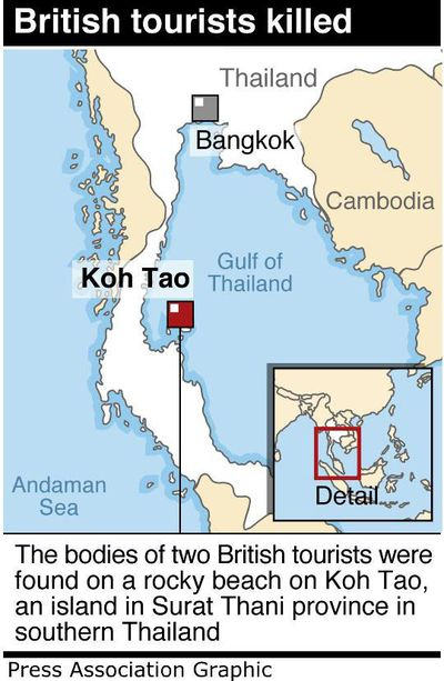 Koh Tao, an island in southern Thailand, where the bodies of two British tourists were found. (Picture: AAP)