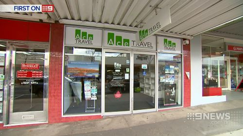Mr Dittloff's travel agency has been closed since Monday. (9NEWS)