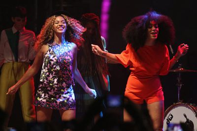 Solange maintains that she and her superstar sis are not 'rivals'... but she made her feelings clear on her 2008 track 'God Given Name': 'I'm not her and never will be'.<br/><br/>In June 2009, Solange slammed blogger Teddy Birmingham as 'disrespectful' for suggesting she was living in her sister's shadow. Chip on the shoulder, much? Solange told <i>Vibe</i> in 2010 that she was having 'crazy panic attacks' over her third studio album, which eventually saw the light of day as an EP, <i>True</i>, in 2012.<br/><br/>Image: Getty