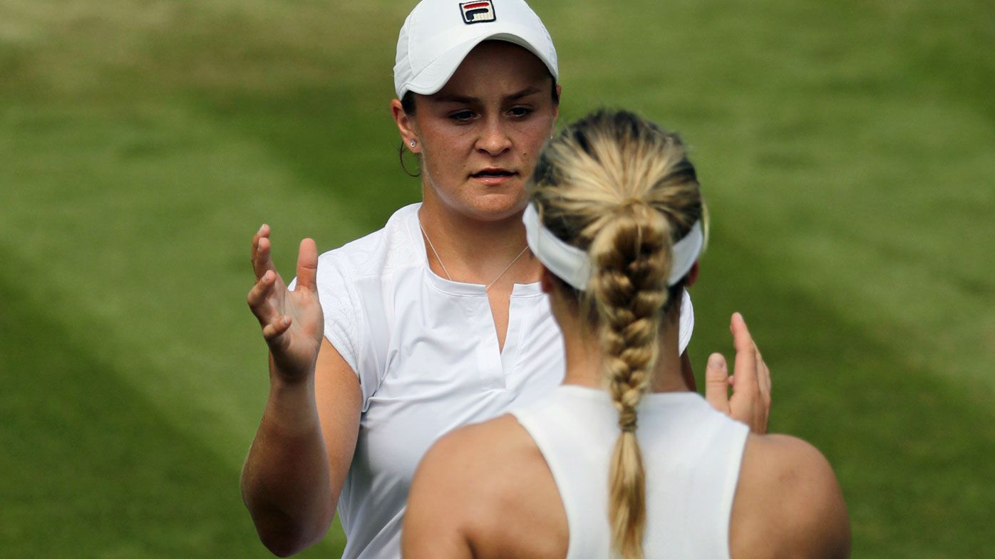 Barty takes out former Wimbledon finalist