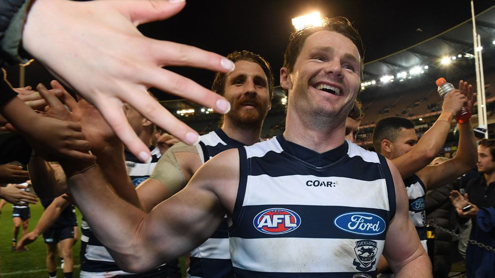 AFL finals 2017: Patrick Dangerfield proves a dual threat for flag-chasing Geelong Cats