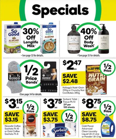 Woolworths specials this week.