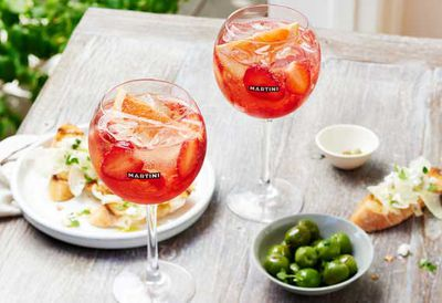 Rosato spritz spiced vermouth cocktail