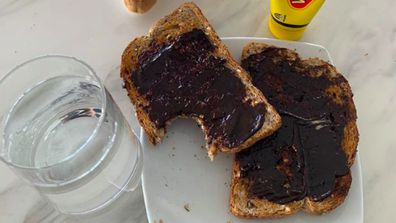 Tom Hanks' Vegemite toast.