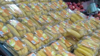 Rage over plastic wrapped bananas