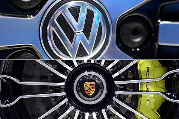 Porsche and VW wheel logos