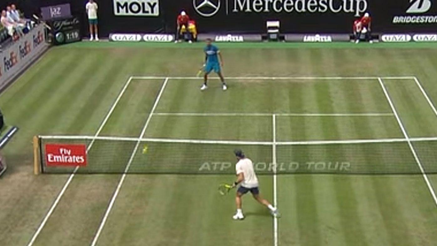Nick Kyrgios returns to tennis in style against Maximilian Marterer in Stuttgart