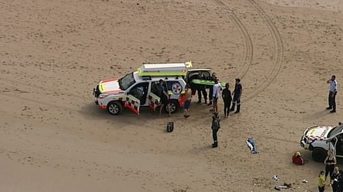 The man was pulled from the water around 11am.