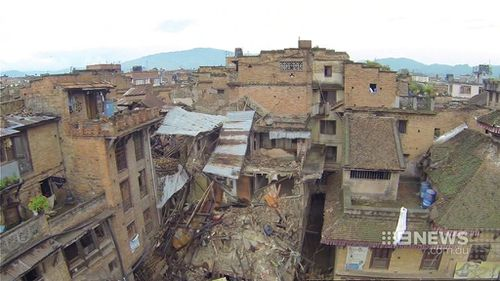 9NEWS has had a look inside homes destroyed by the Nepal quake. (9NEWS)