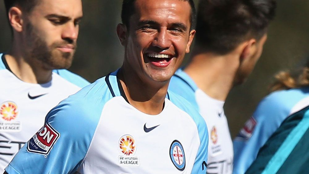 Tim Cahill could make his Melbourne City debut on Wednesday. (Getty Images)