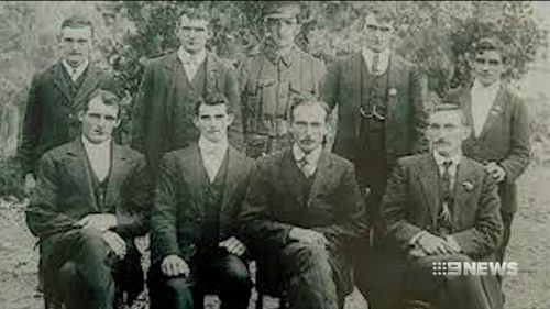 Eight brothers from the Handcock family fought in WWI. (9NEWS)