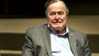 Bush Sr recovering, responding: spokesman