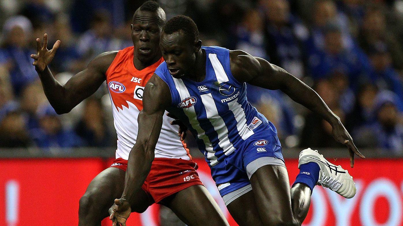 AFL commentator Brian Taylor slammed after confusing Sydney Swans star Aliir Aliir with Sudanese countryman Majak Daw