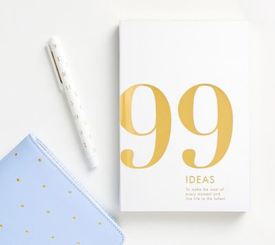 "<a href=""http://www.kikki-k.com/99-ideas-book-time-is-now"" target=""_blank"">Kikki K 99 Ideas Book, $24.95.</a> A fresh journal to write down all the things you are going to do after the kids go to school."