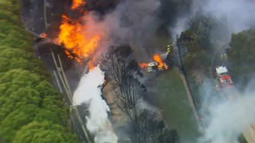 Emergency services on the scene in the 2013 crash. (9NEWS)