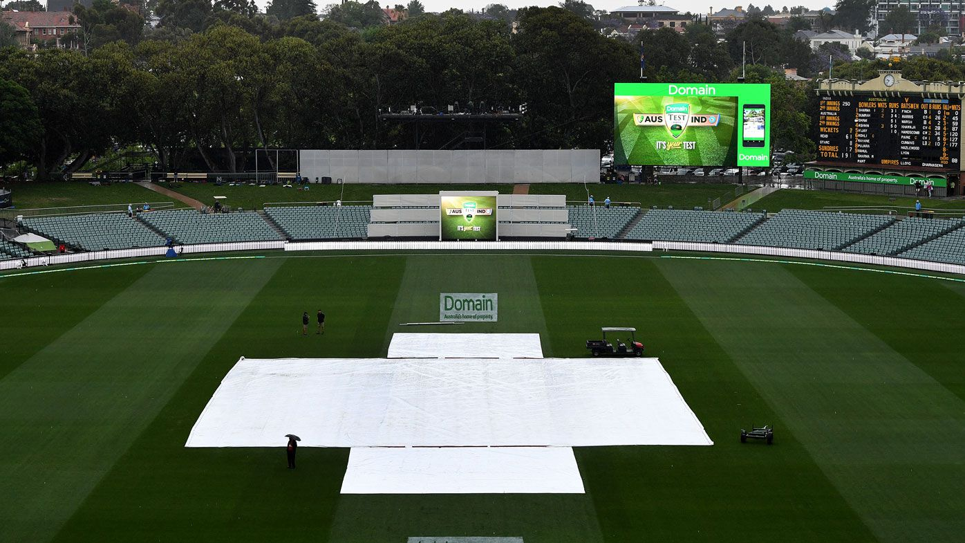 Adelaide Test resumes after rain delay