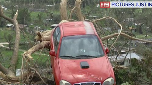 The cyclone caused widespread damage. (9NEWS)
