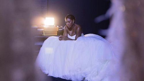 Williams posted a photo of herself in a wedding dress to her Instagram account yesterday. (Instagram/@serenawilliams)