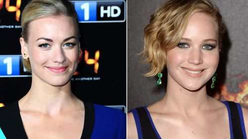 Australian actress Yvonne Strahovski and Jennifer Lawrence, who were caught up in the intial leak. (AP)