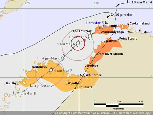 Cyclone warning issued for NT coast