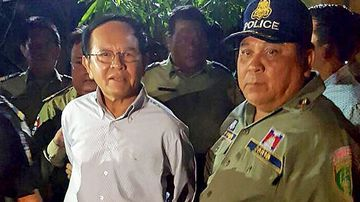 Opposition leader Kem Sokha was arrested earlier this month. (Photo: AFP).
