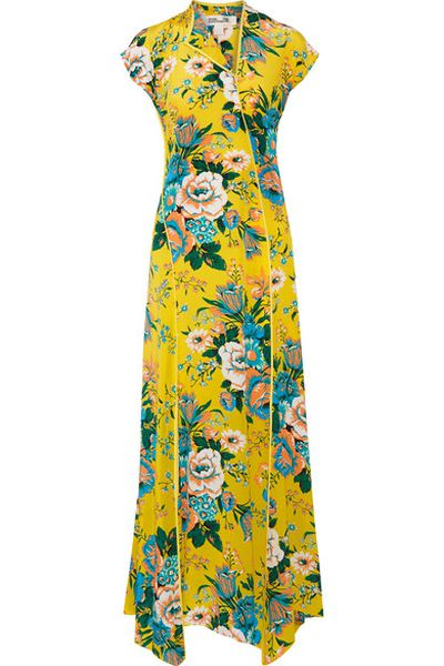 "Diane Von Furstenberg floral gown, $635 at <strong><a href=""https://www.net-a-porter.com/au/en/product/898284/Diane_von_Furstenberg/floral-print-silk-crepe-de-chine-maxi-dress"" target=""_blank"">Net-a-porter</a></strong><br />"