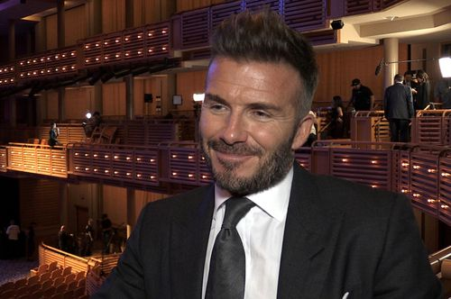 Beckham at the launch this morning. (AAP)