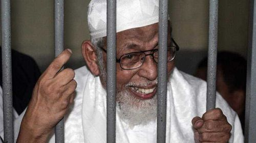 Abu Bakar Bashir was sentenced to 15 years jail for operating the paramiltiary camp those responsible for the Bali bombings trained at.