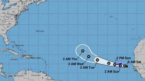 Tropical Storm Helene is set to bring potential for flash-flooding as it hit Cabo Verde Islands in Africa.