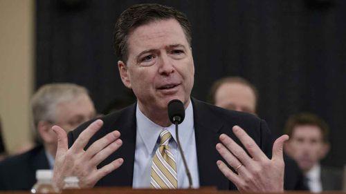 FBI Director James Comey testifies before Congress. (AAP)
