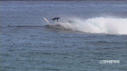 He had been surfing at Prevelly this morning when the shark struck. (9NEWS)