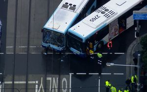 Woman rushed to hospital with serious head injuries after Sydney bus crash; part of Anzac Parade closed
