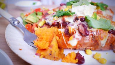 Jane de Graaff's quarantine Kitchen ultimate loaded sweet potatoes