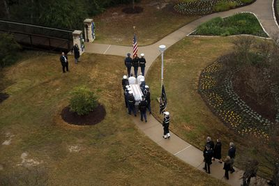 <strong>Final farewell for former president.</strong>