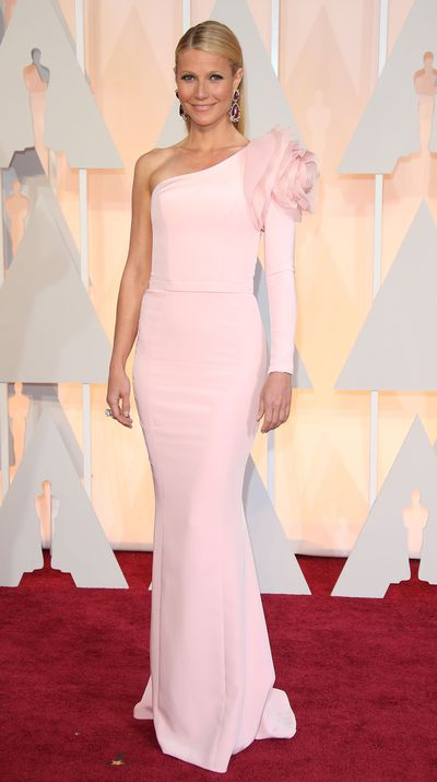 At the 2015 Academy Awards in Ralph & Russo Couture.