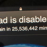 Kid locks dad's iPad until 2067