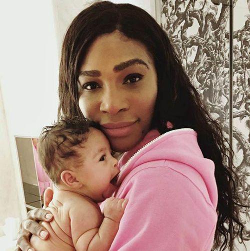 Serena Williams and her newborn daughter (Instagram)