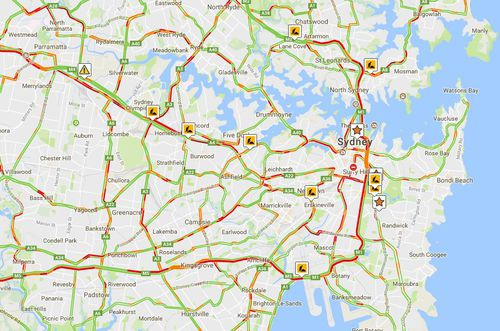 The roads to avoid as of 5.45pm. Courtesy: Livetraffic.com
