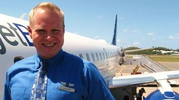 Steven Slater spectacularly quit his job at JetBlue in 2010 by grabbing some beers and slipping down the emergency slide  after Flight 1052 had landed. (Steven Slater)
