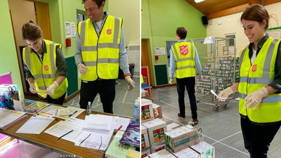 Princess Eugenie and Jack Brooksbank volunteer with Salvation Army, May 2020