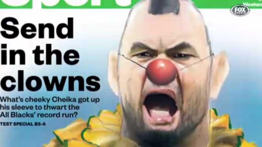 Cheika seething at clown portrayal