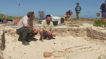 60 Minutes reporter Liam Bartlett uncovers grisly true story of those who died on The Abrolhos, a West Australian island chain. (60 Minutes)