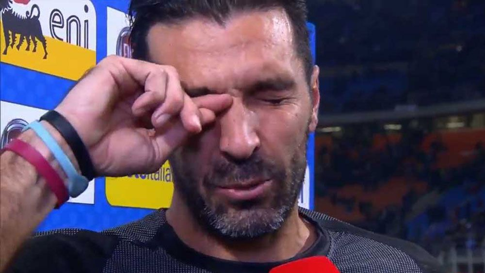 Gianluigi Buffon's teary Italy farewell after World Cup fail against Sweden