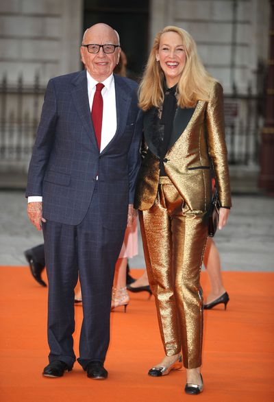 Rupert Murdoch and Jerry Hall at the Royal Academy of Arts summer exhibition.
