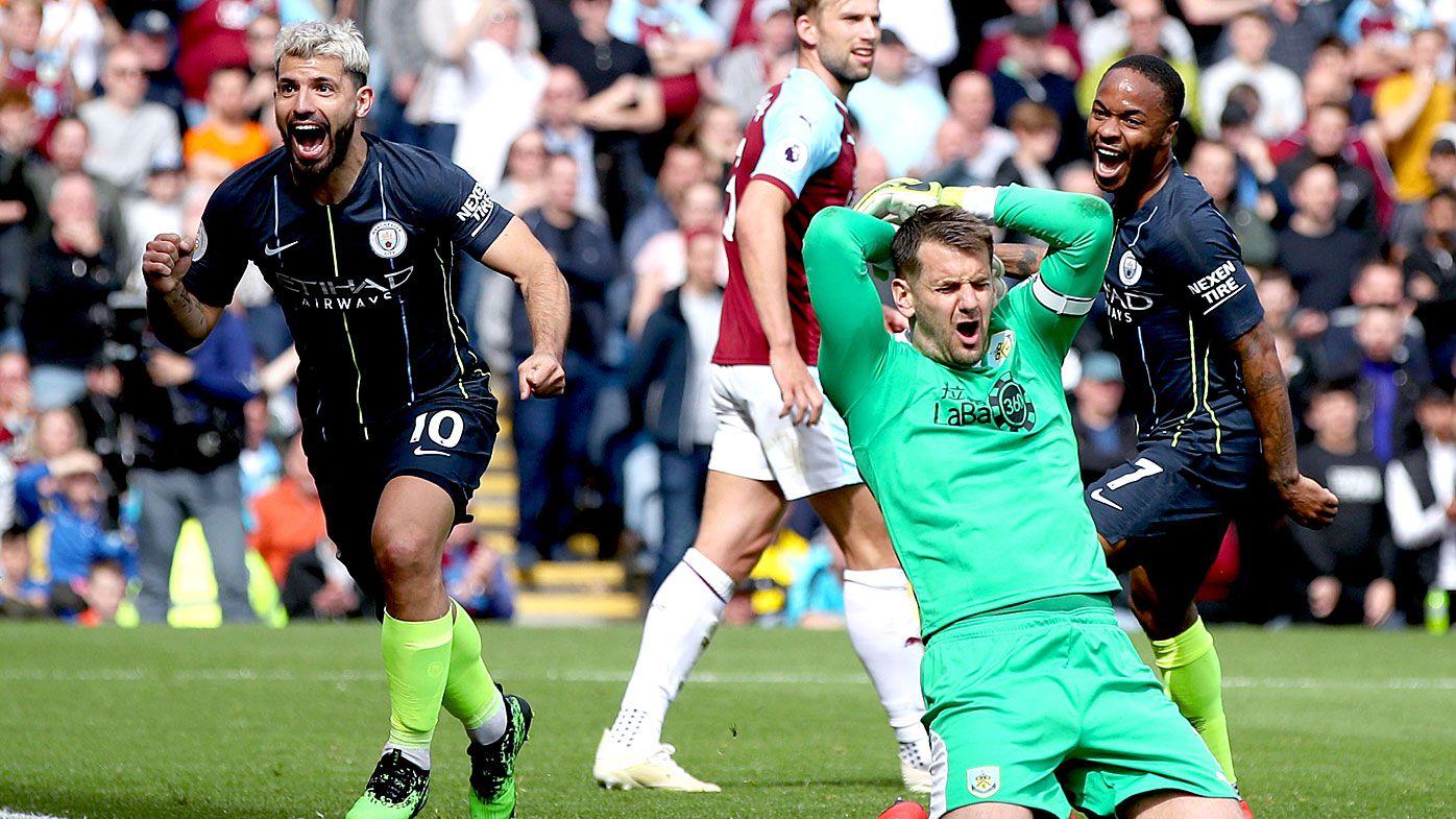 Sergio Aguero winner confirmed by goal-line technology in vital result against Burnley