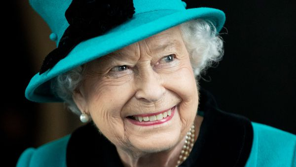 Queen Elizabeth II smiles during a visit to open the new headquarters of Schroders plc, the multinational asset management company which was founded in 1804, in London, Wednesday, Nov. 7, 2018